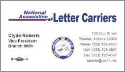 NALC Business Card Template 2