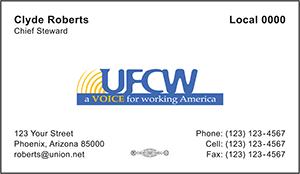 UFCW Business Card Template 1