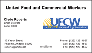 UFCW Business Card Template 2