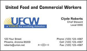UFCW Business Card Template 3