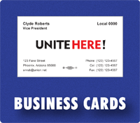 union printed business cards