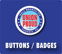 buttons / badges union printed