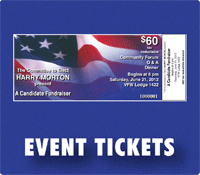 event tickets union printed