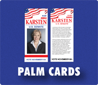 union printed palm cards