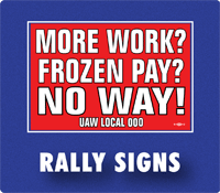 union printed rally signs