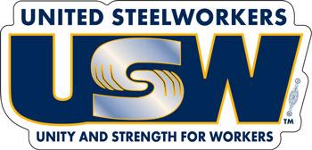 United Steelworkers Vinyl Decal Custom Local Number