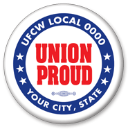 Union Proud button