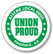 Union Proud button green